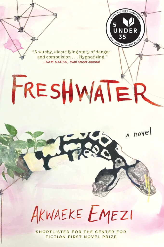 Book cover image of the novel 'Freshwater' by Akwake Emezi